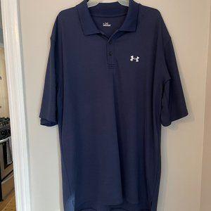 UA Navy Blue Performance Golf Shirt XL-XXL